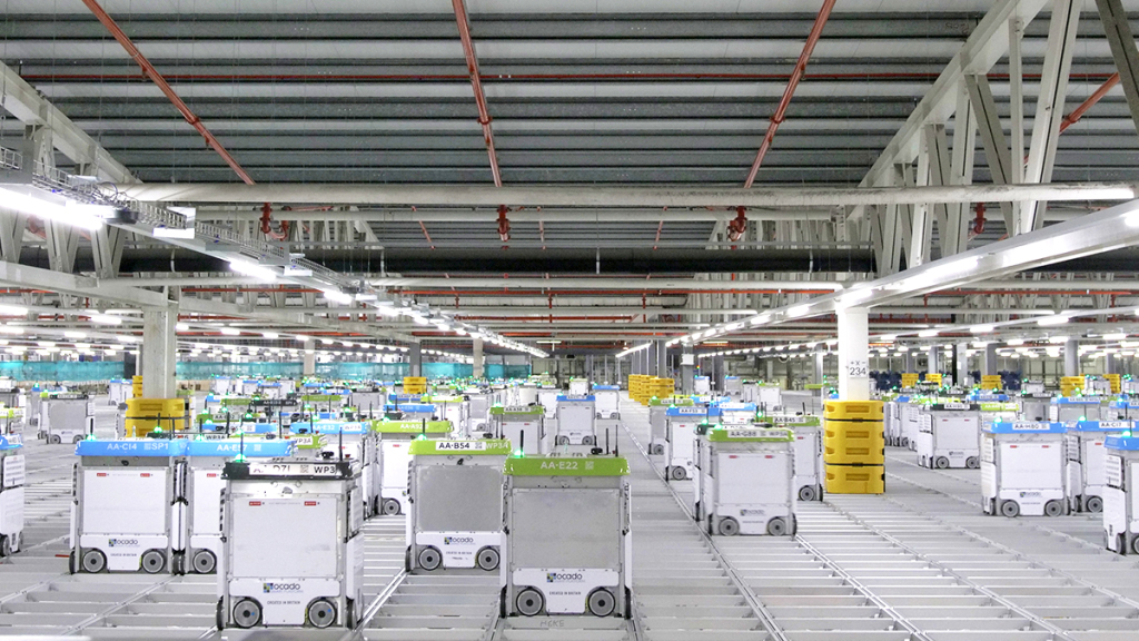 How Online Grocer Ocado Is Automating Warehouses Using Swarms of Robots